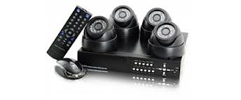 DVR and Three Exterior Cameras and One interior Package with cable